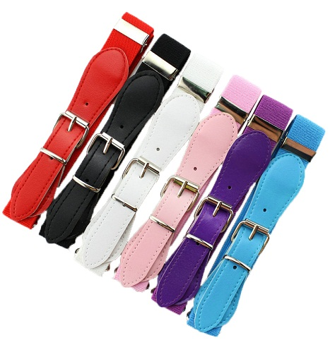 colorful-elastic-kids-belts