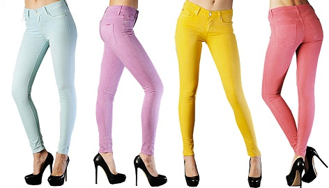 Coloured Jeans For Teenagers