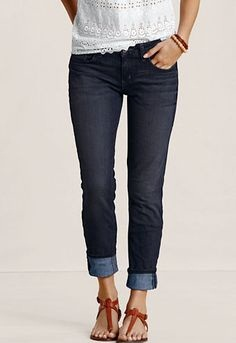 Trendy Cuffed Jeans