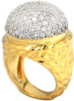 de-buman-14k-gold-overlay-cubic-zirconia-hammered-ring10