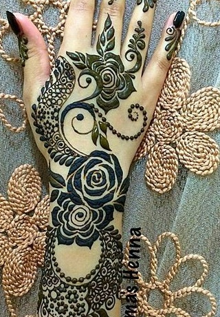 Designer Indian Mehndi Design