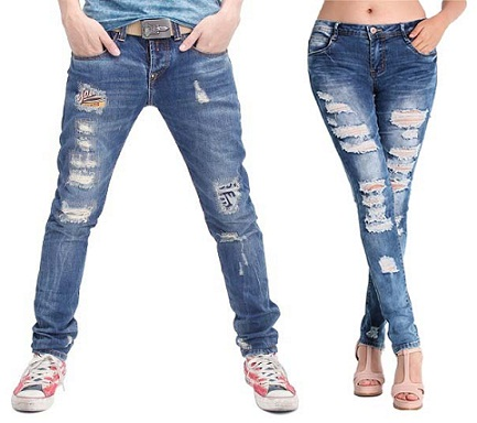 8e4df5bf0467 Distressed jeans have a shabby look indeed but the impact of being cool is  so in the fashion. Dashing and cool image can be shown easily with the  ripped ...