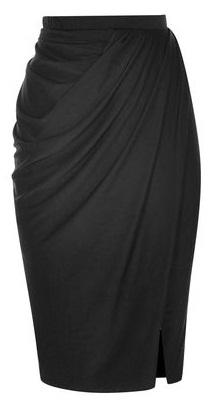 Formal Draped Skirt In Black
