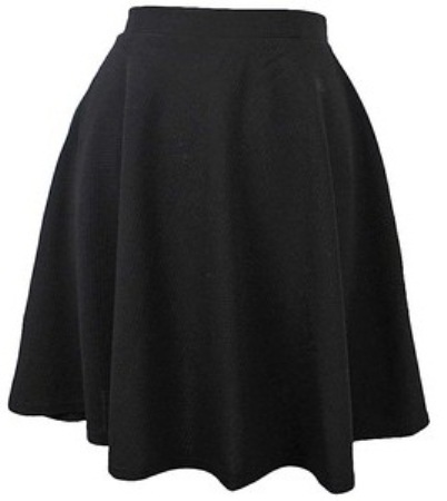 Medium Flared Formal Skirt