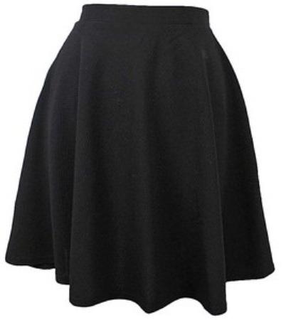 Medium Flared Formal Skirt