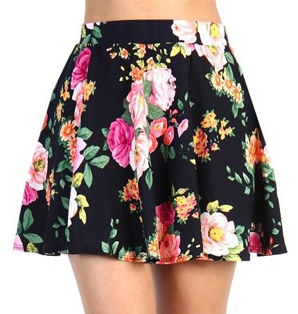 floral-skater-skirt