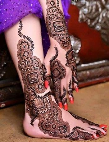 foot mehendi designs