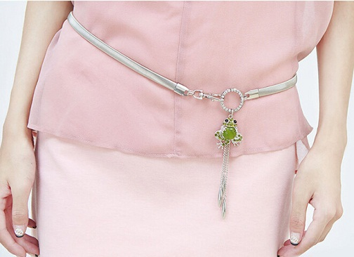girls-silver-waist-belt