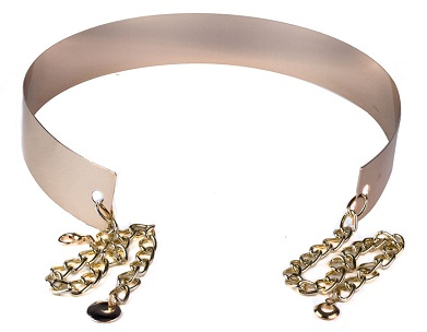 Gold Metal Belt With Chain women