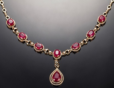 15 beautiful ruby necklace jewellery designs styles at life gold plated ruby necklace2 aloadofball Images