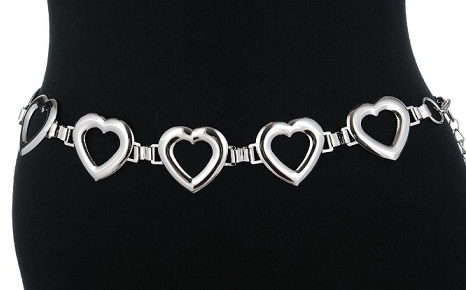 Heart Shape silver Belts for ladies