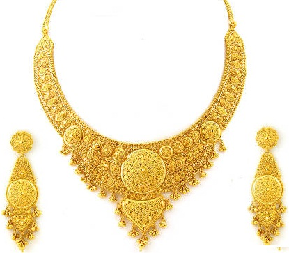 less necklace plated set golden buy for one jfl jewellery gold women gram dp