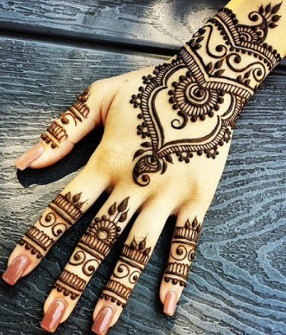 Indian Mehndi Design for Girls
