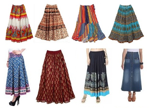19ef0180fc 9 Modern Indian Style Cotton Skirts for Ladies | Styles At Life