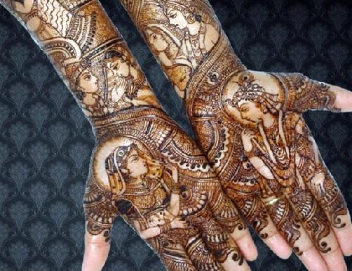 krishna-radha-rajasthani-mehndi-design23