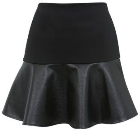 leather-flared-skirt