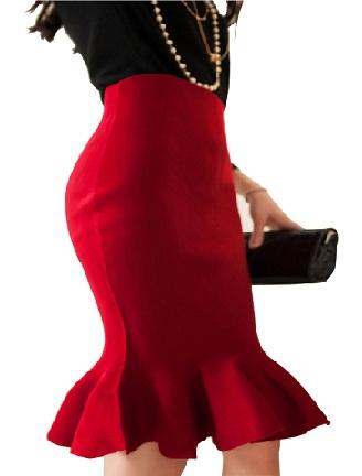 mermaid-style-high-waist-skirts