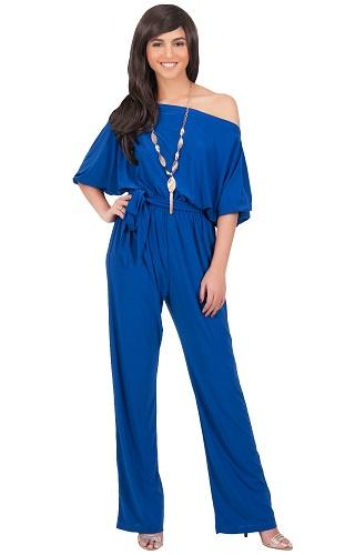 Off shoulder Cobalt Blue Formal Jumpsuits4
