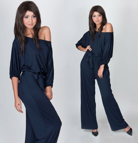 one-shoulder-navy-jumpsuits