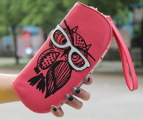 owl-printed-wallet