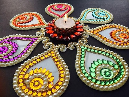 Pearls and Stones Rangoli