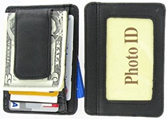 printed-grain-cowhide-leather-money-clip-wallet
