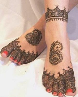 Rajasthani Feet Mehendi design