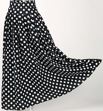retro-style-long-white-dots-black-cotton-skirts8