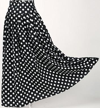 retro-style-long-white-dots-black-cotton-skirts8
