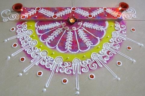 semi-circular-free-hand-rangoli-with-floral-design12