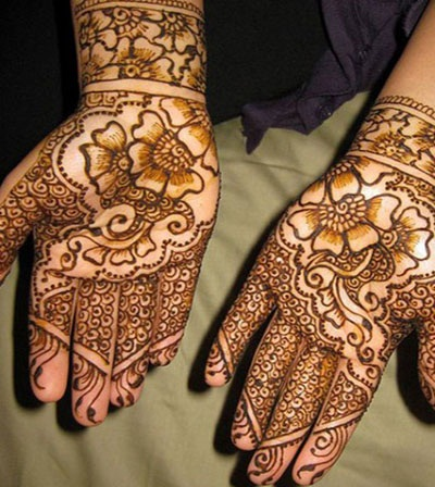 Shaded Indian Mehndi Design