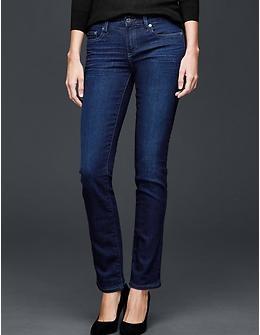 1969 real straight jeans - dark wash