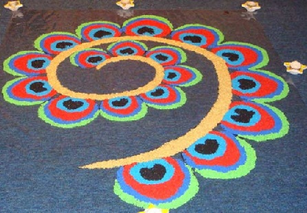 Swirl Rangoli