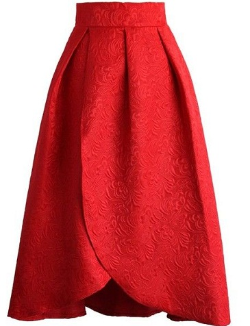 Red Tulip Formal Skirt For Occasion