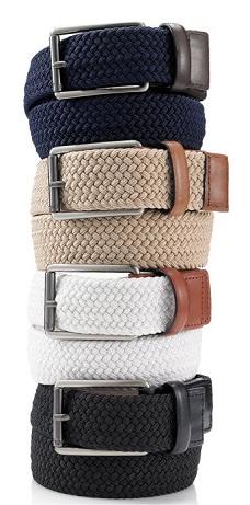 webbed-leather-trim-belt
