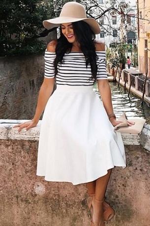 white-floral-midi-skirt