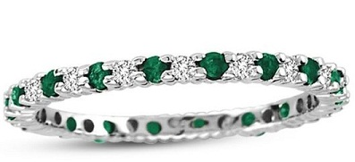 white-gold-diamond-and-emerald-eternity-band-ring1
