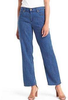 ORIGINAL 1969 wide-leg crop jeans - medium blue river