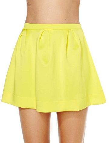 yellow-skater-skirt