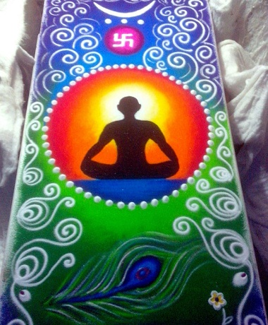 Yoga Rangoli Designs