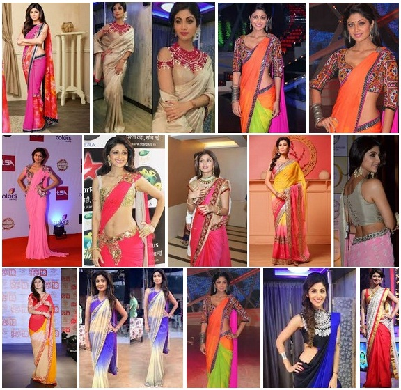 cd49ea3e32 15 Gorgeous Looks of Shilpa Shetty in Saree with Images | Styles At Life