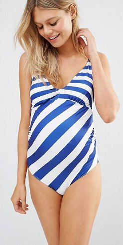 ASOS – Maternity Swimwear- Striped