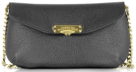 Alce Black Leather Shoulder Bag