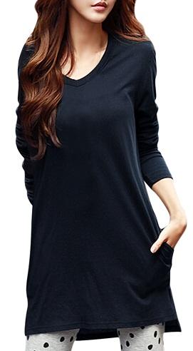 Allegra K Women Long Tunic Top