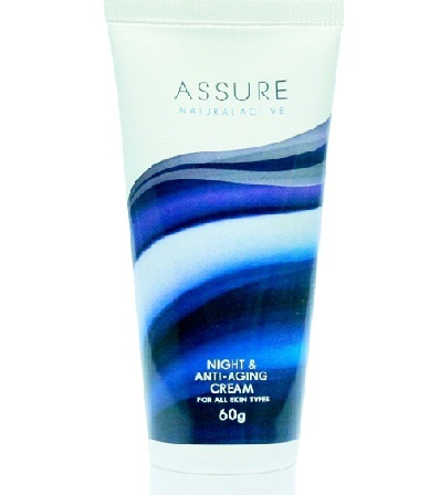 Assure Natural Active Anti-Aging Night Cream Vitamin E Enriched