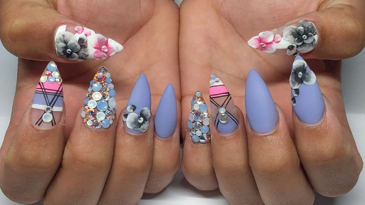 acrylic nail art - 8 Best Acrylic Nail Art Designs Styles At Life