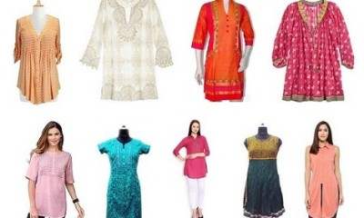 Best Women's Cotton Tunics Designs from India
