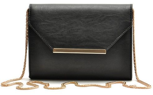 Black Small Handbags in Leather
