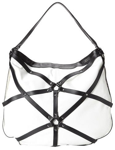 Black and White Diesel Leather Bag