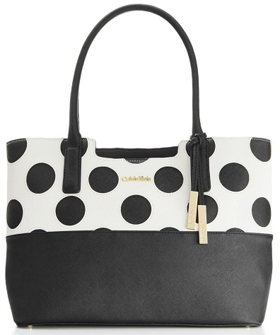 black-and-white-polkas-dot-calvin-klein-bags